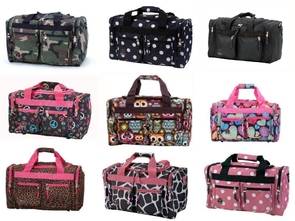 TOTE Bag Double Wheels Travel Luggage Duffle Handbag Bags Ha