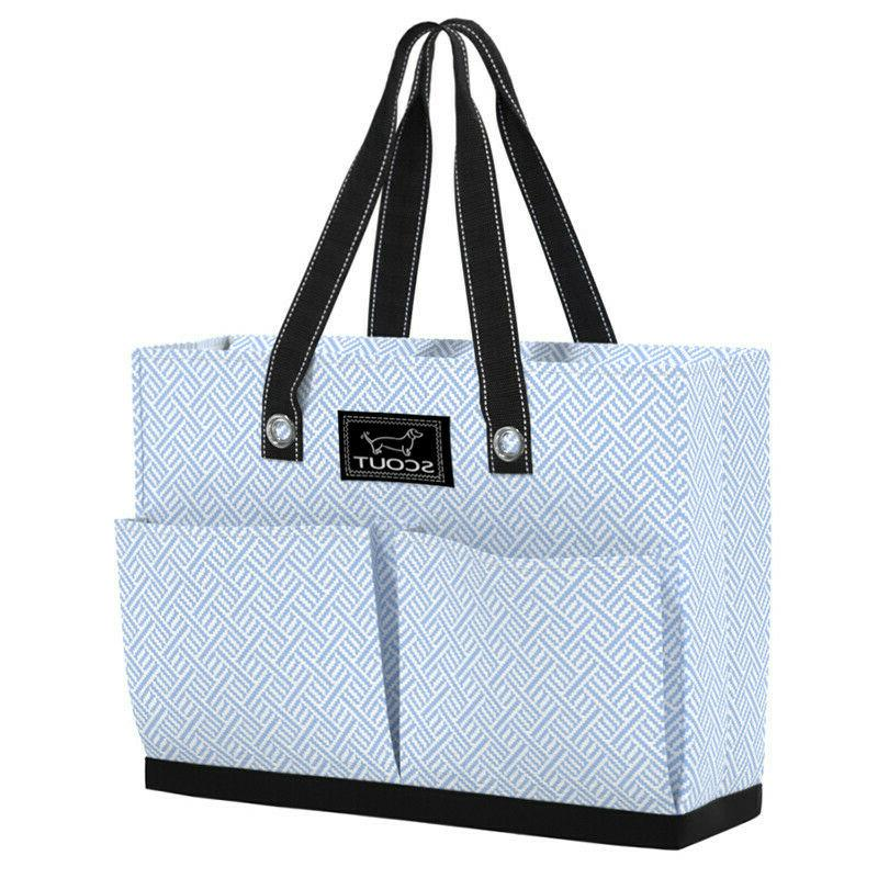tote bag w pockets uptown girl unbeweavable