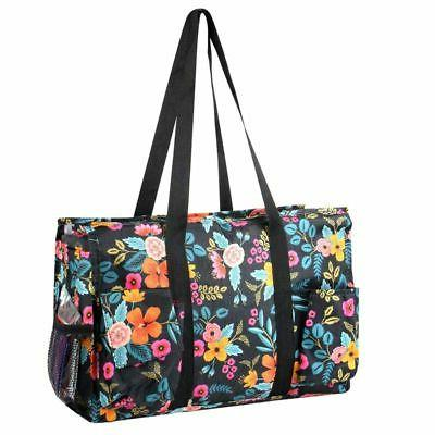 travel camping shopping zipper utility shoulder tote