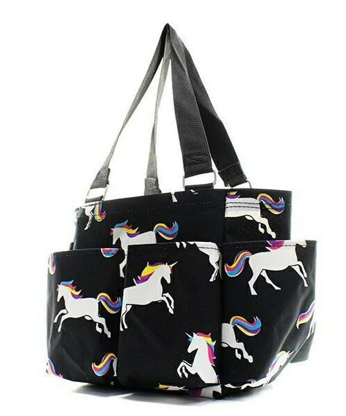 Unicorn Zippered canvas purse Caddy Tote Bag