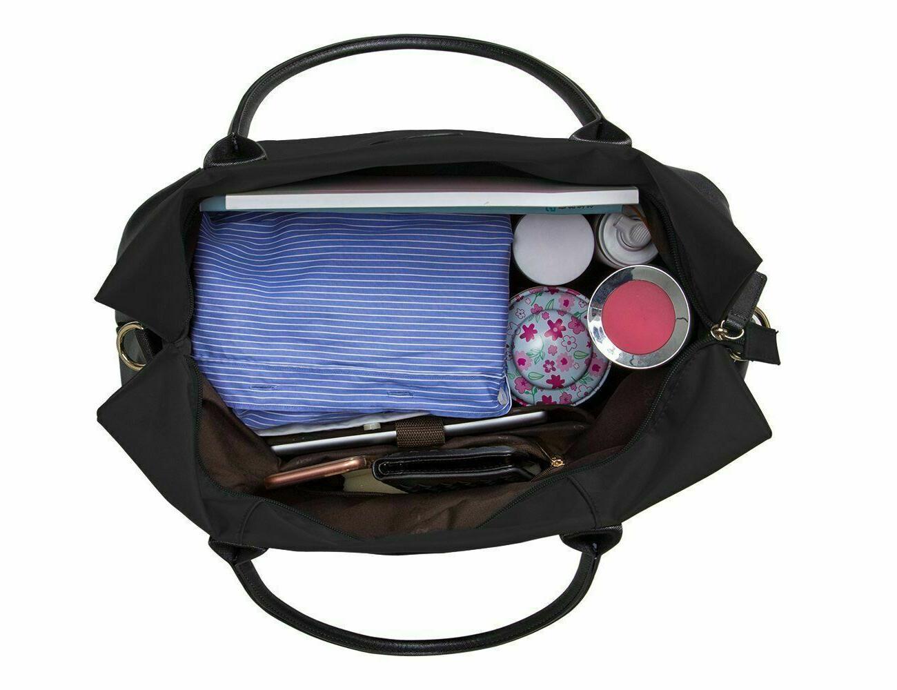 ECOSUSI Unisex Weekender Bag Duffel Gym Totes Handle