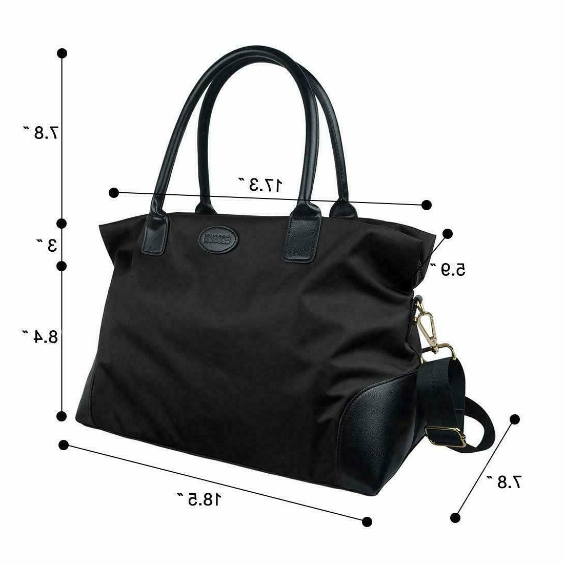ECOSUSI Unisex Large Weekender Bag Duffel Gym Totes Handle