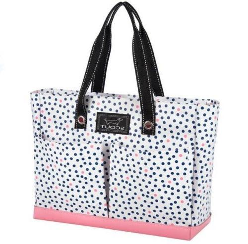 uptown girl multi pocket tote bag exterior