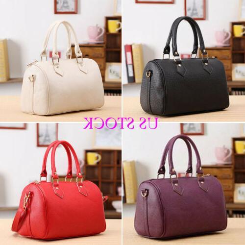 us women leather handbag tote purse shoulder