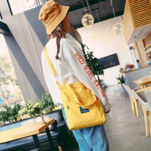 US Canvas Black Handbag Bag Satchel