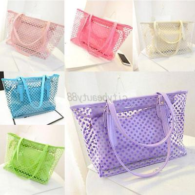 US Transparent Shoulder Bag Clear Handbag Jelly Bag