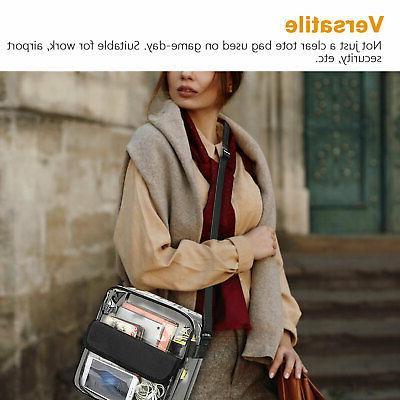 Clear Tote Bag Women Transparent Handbag Purse Stadium