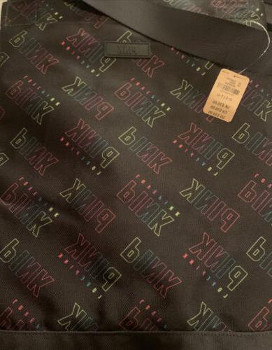 victoria secret pink weekender tote bag black