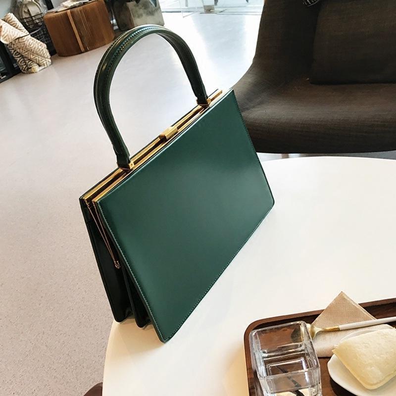 Vintage Handbags <font><b>Medium</b></font> Metal Frame Design Female <font><b>Tote</b></font> Top-handle Designer Autumn