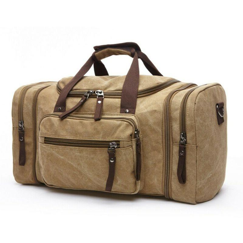 Vintage Canvas Travel Tote Gym Duffle