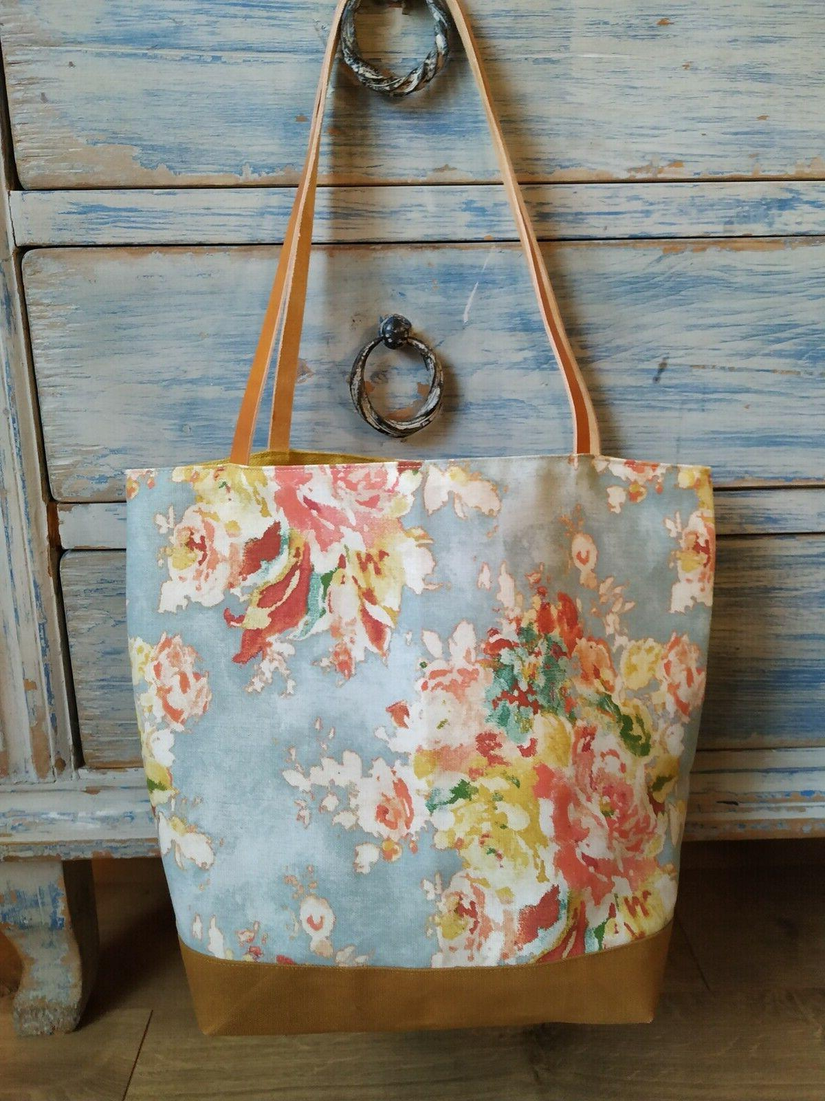 Waxed Tote with handles