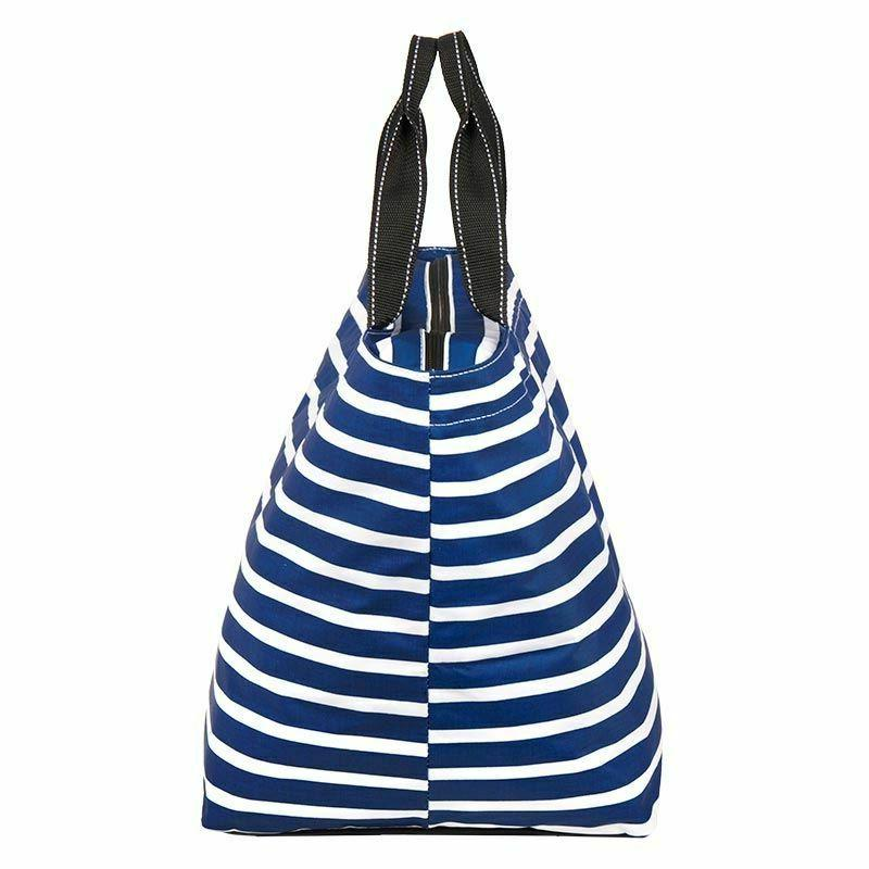 weekender tote bag navy stripe nantucket navy