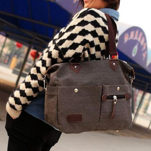 YOLANDO CANVAS Handbag Hobo Purse