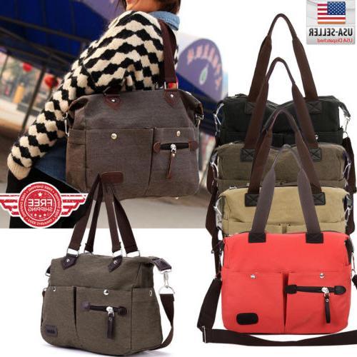 women canvas bags handbag shoulder hobo purse
