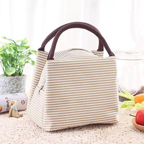 Women Canvas Tote Lunch Box Bag