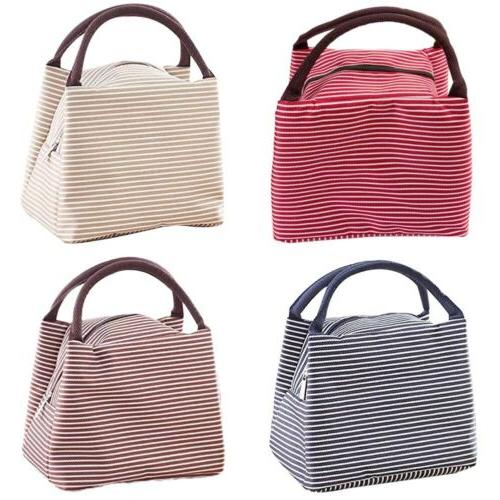 women canvas insulated thermal tote lunch box