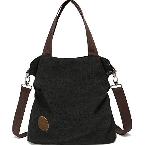 Women Canvas Shoulder Casual Tote Cross Purse