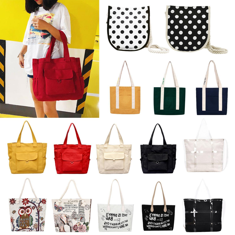 women canvas shoulder handbags large capacity bag
