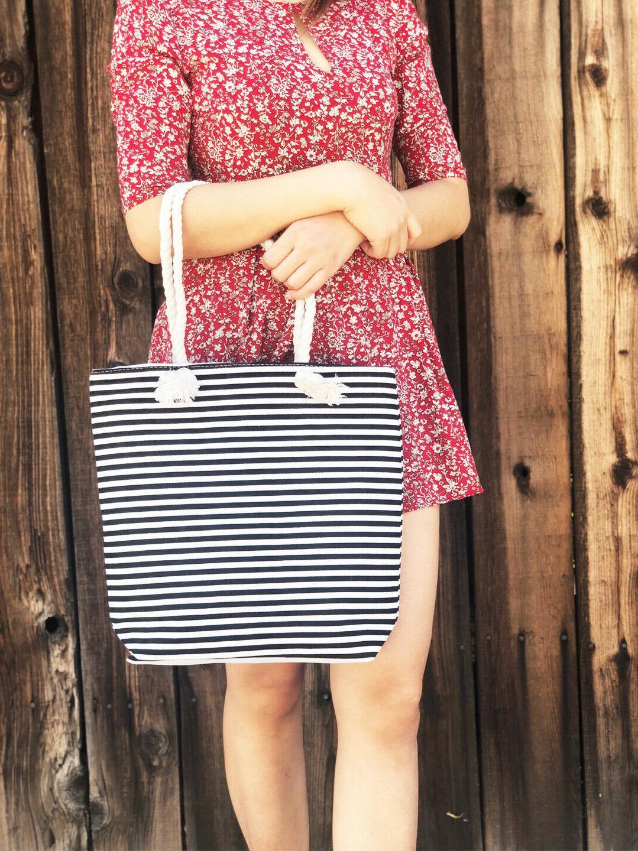Women Canvas Tote Bag-Beach Bag-Summer Holiday Travel Picnic
