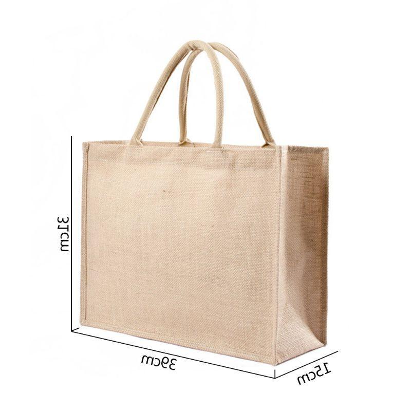 Women <font><b>Grocery</b></font> Multifunction Burlap Storage <font><b>Bags</b></font>
