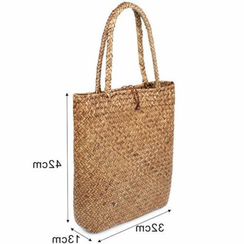 Women Straw Bag Summer Woven Bag Shoulder HandBag
