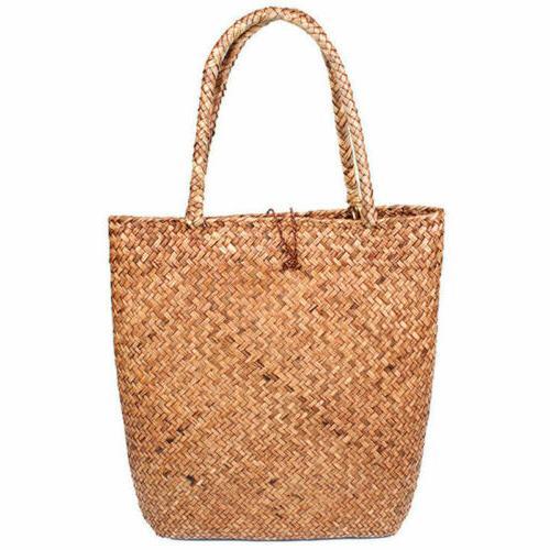 Women Straw Summer Shoulder Bag HandBag