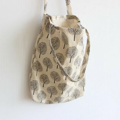 Women cotton linen Shopping Bag Tote Package Bags Handbag