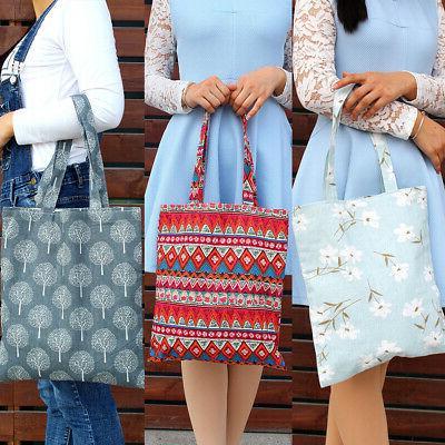 Women linen Shopping Bags Casual Handbag