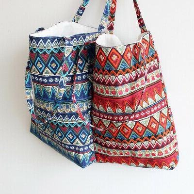 Women cotton linen Shoulder Shopping Bag Package Bags Handbag