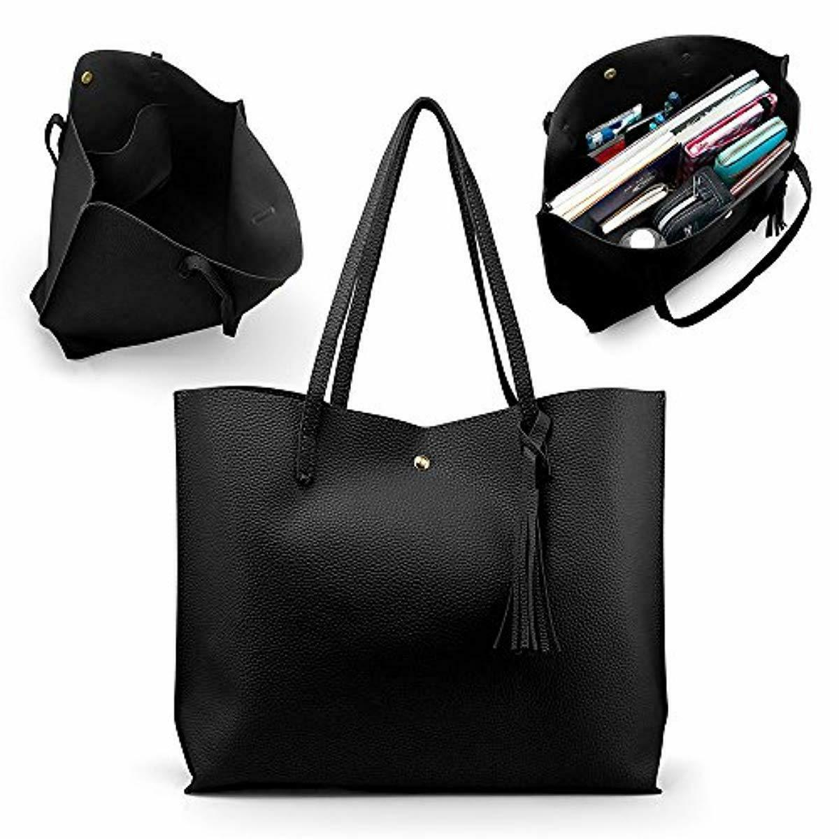 Womens Faux Leather Fashion Messenger Handbag Lady Shoulder