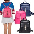 Women Girl PU Leather Backpack Travel Handbag Rucksack Shoul
