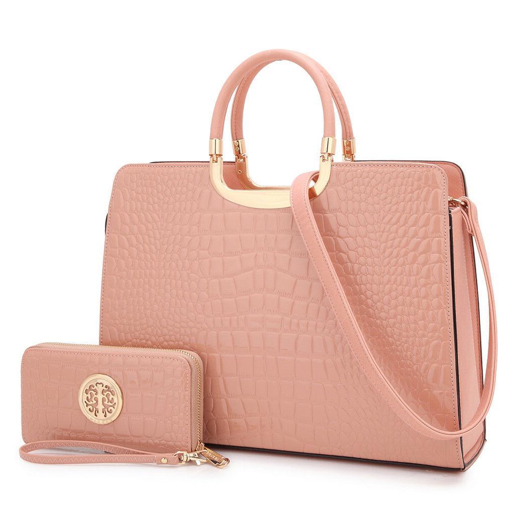 Women Handbag Faux Leather Work Satchel Briefcase Tote Shoul