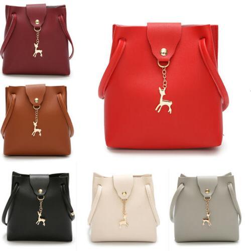 Women Ladies Leather Shoulder Bag Tote Purse Handbag Messeng