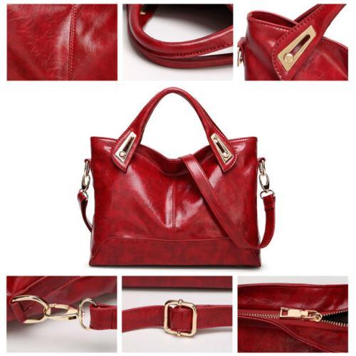 Oil Purse Leather Messenger Shoulder Bag