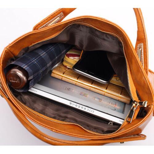 Oil Purse Leather Satchel Messenger Shoulder Bag