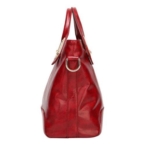 Oil Leather Purse Handbag Messenger Shoulder