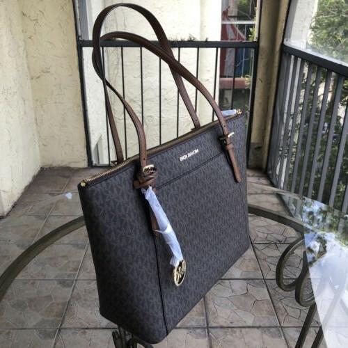 Leather Shoulder Tote Bag Handbag Brown