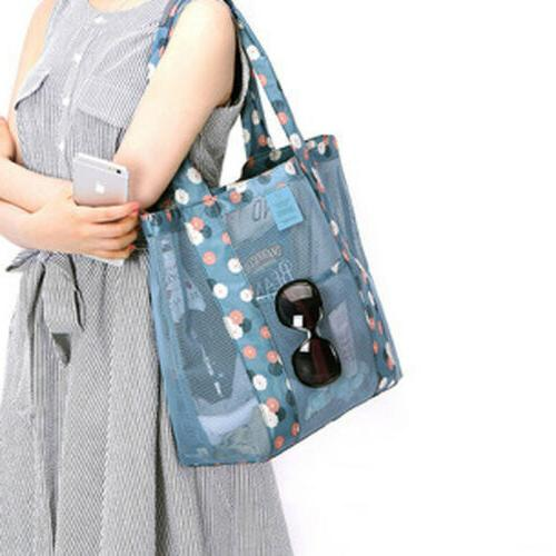 women shopping mesh shoulder bags handbag beach