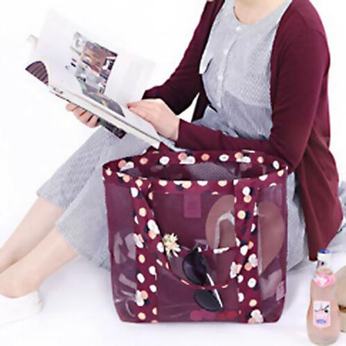 Women Shopping Mesh Shoulder Bags Large US