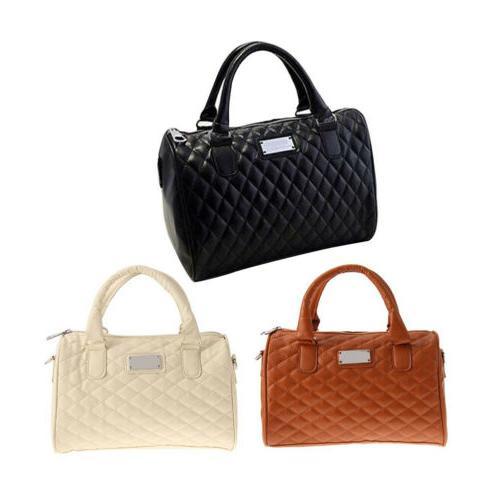 Women Large PU Handbag Shoulder Tote Messenger Satchel