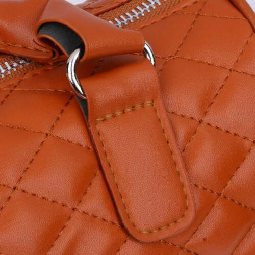 Women Large PU Leather Handbag Bag Tote Messenger Crossbody