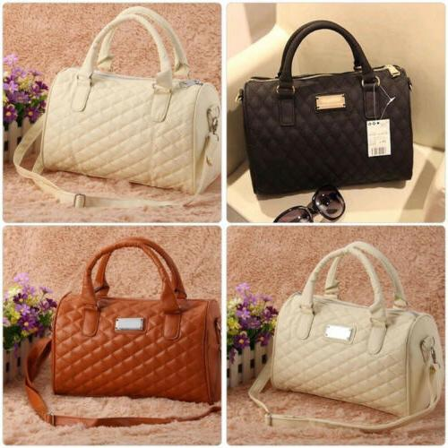 women large pu leather handbag shoulder bag