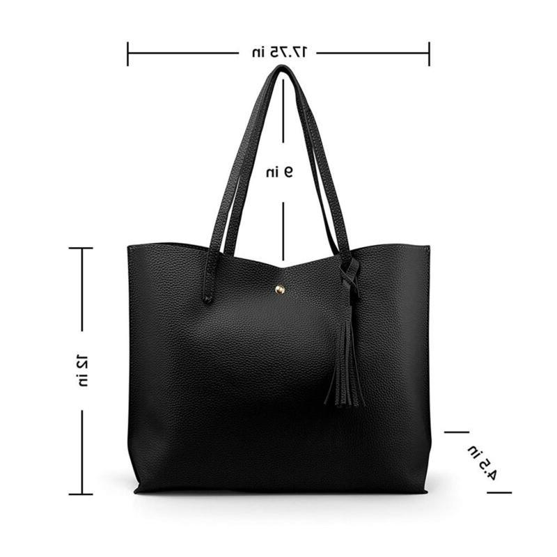 Oct17 Women Large Tote Leather Handbags,