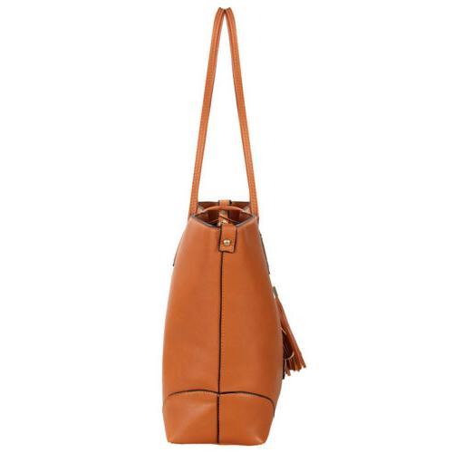 Women Leather Handbag Hobo Crossbody Tote Bag