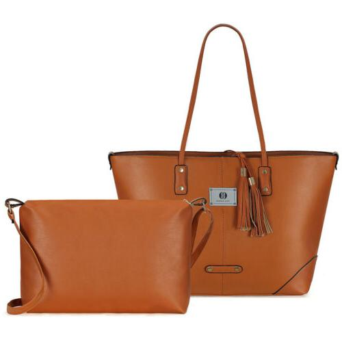 Women Leather Handbag Hobo Tote Bag