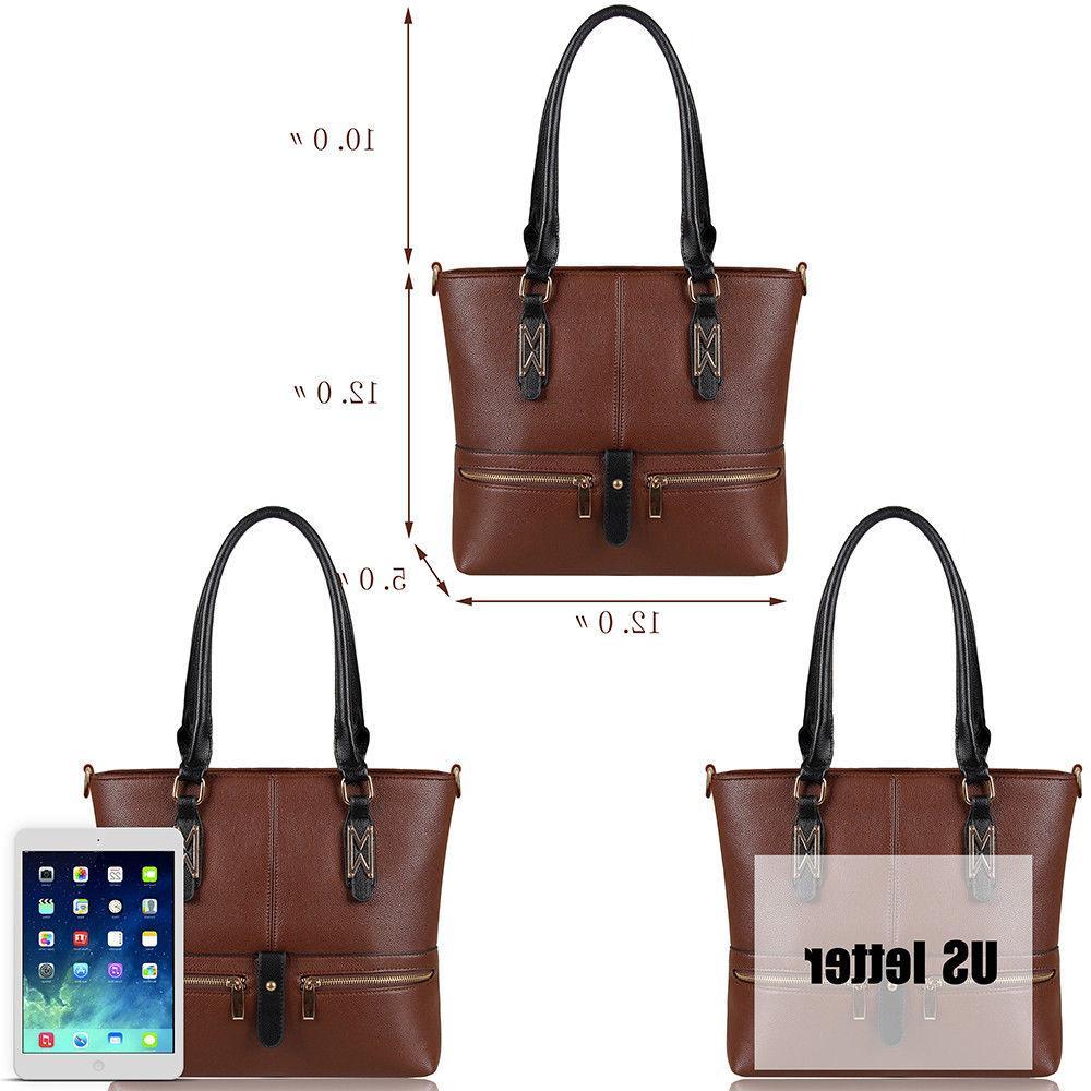 Women Leather Purses and Handbags Shoulder Crossbody Tote Bag T4