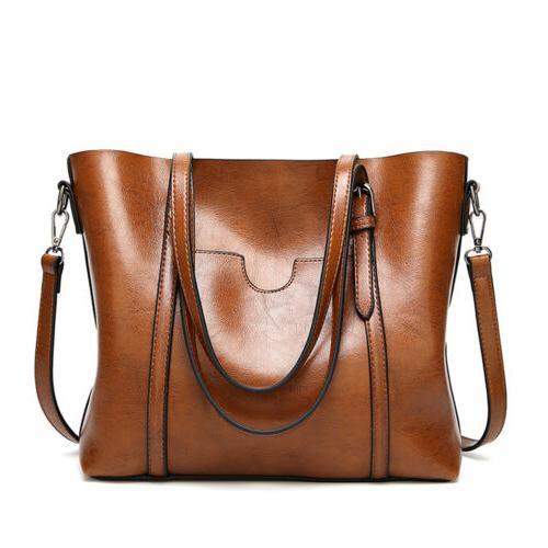 Women Leather Tote Handbag Lady Messenger Bags