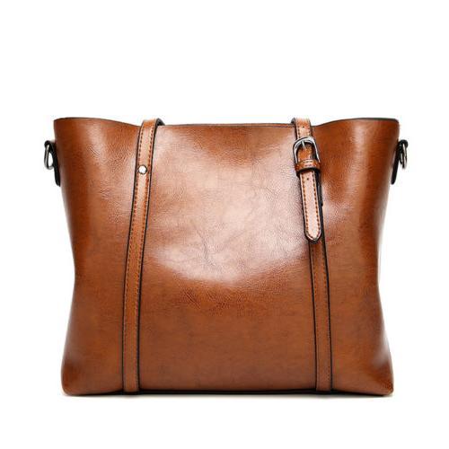 Women Leather Tote Handbag Lady Messenger T35