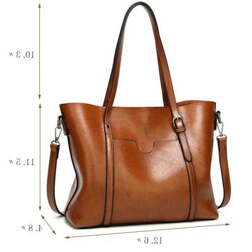 Women Leather Tote Handbag Lady Purse Messenger Satchal Bags T35
