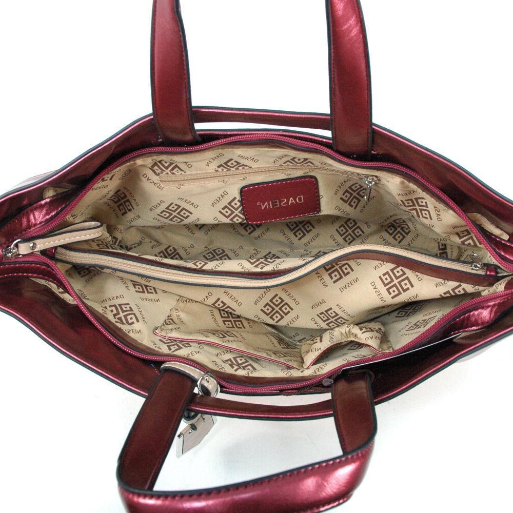 Dasein Leather Tote Bag Handbag Shoulder Bag
